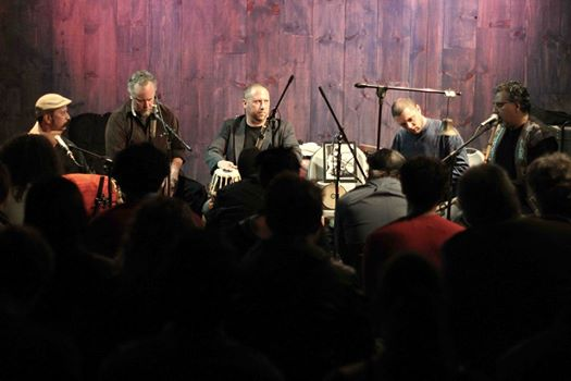 Hands On'Semble with Poovalur Sriji and Houman Pourmehdi.  John Bergamo tribute concert at Blue Whale, Los Angeles CA - 2014
