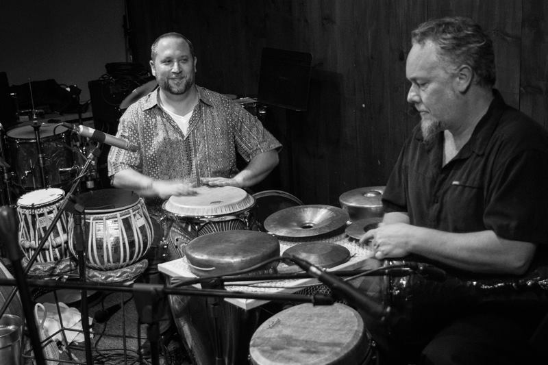 "Randy Gloss and Austin Wrinkle. Randy Gloss' ""Ayes Have It Vol. I"" CD release concert with Hands On'Semble, Pete Lockett and Houman Pourmehdi. Blue Whale, Los Angeles CA - 2015 - Photo: Eron Rauch"