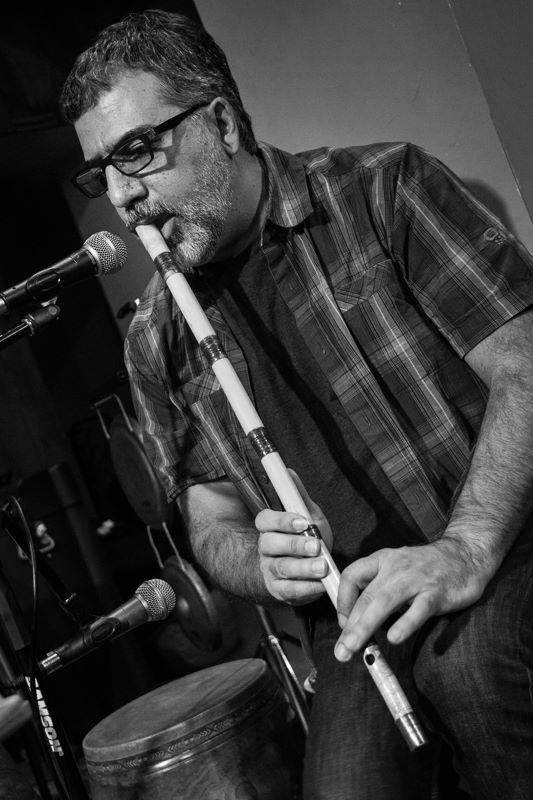"Houman Pourmehdi. Randy Gloss' ""Ayes Have It Vol. I"" CD release concert with Hands On'Semble, Pete Lockett and Houman Pourmehdi. Blue Whale, Los Angeles CA - 2015 - Photo: Eron Rauch"