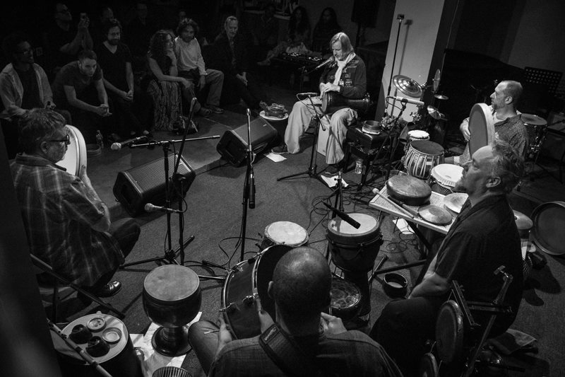 "Randy Gloss' ""Ayes Have It Vol. I"" CD release concert with Hands On'Semble, Pete Lockett and Houman Pourmehdi. Blue Whale, Los Angeles CA - 2015 - Photo: Eron Rauch"