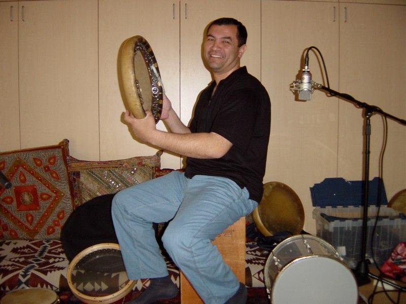 Abbos Kosimov recording Hand'Stan - Los Angeles 2005