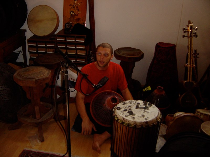 Andrew recording 'Hand'Stan' - Los Angeles 2005