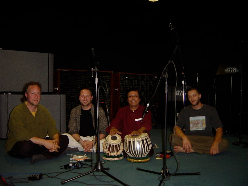 Hands On'Semble with Pandit Swapan Chaudhuri recording Hand'Stan - Los Angeles 2005