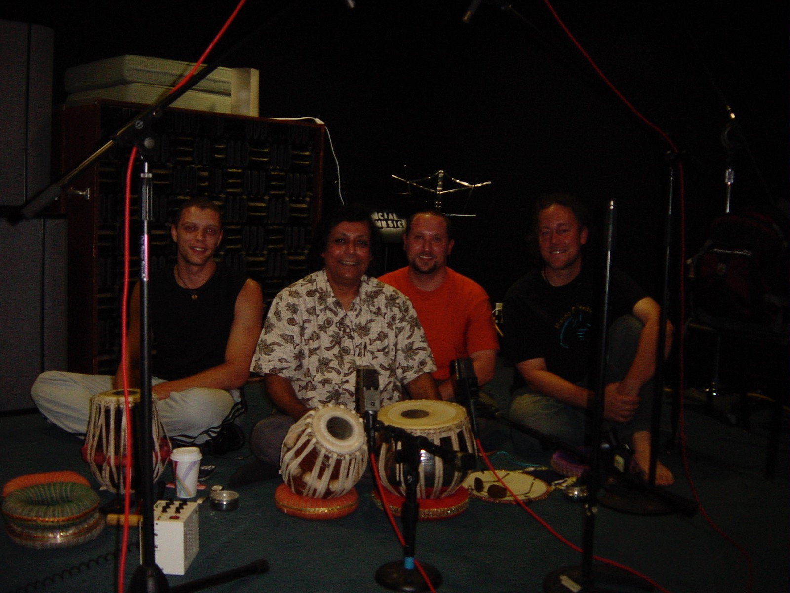 Hands On'Semble with Pandit Swapan Chaudhuri. 'From One' recording session.