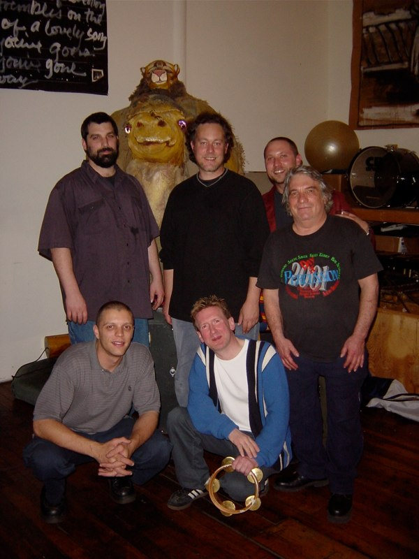 Hands On'Semble with Todd Roach (upper right)and Patrick Cooperman (lower left), at The Loft, Brattleboro, Vermont, 2003