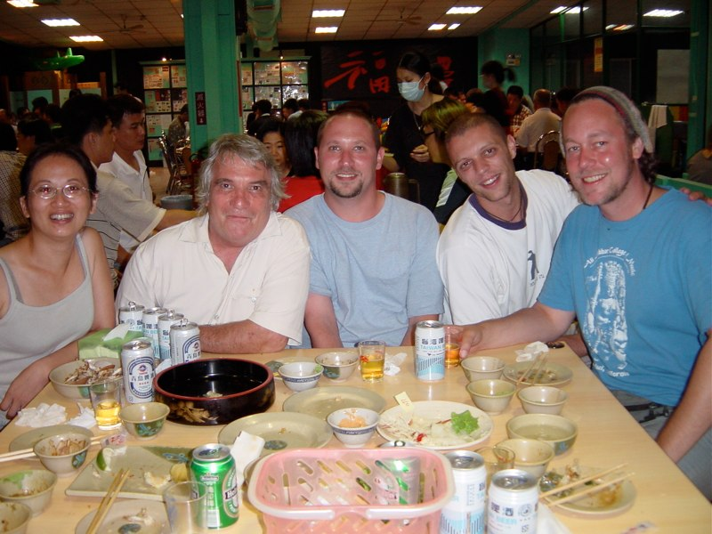 Hands On'Semble with our translator, Jody. Taiwan 2003