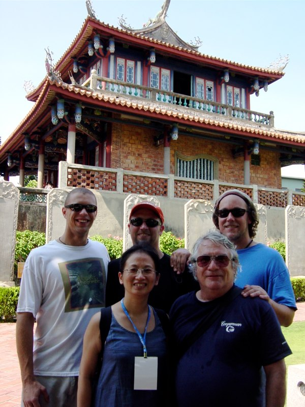 Hands On'Semble with our translator, Jody. - Taiwan 2003