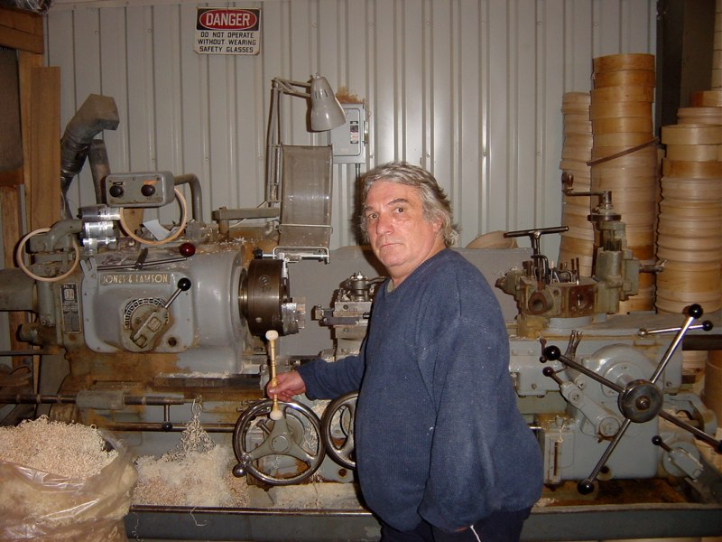 John Bergamo at the Cooperman factory, Bellows Falls, Vermont 2003