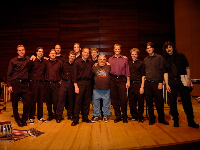 John Bergamo with Dan Kennedy and Terry Longshore with the Southern Oregon University Percussion Ensemble. Ashland, Oregon 2004