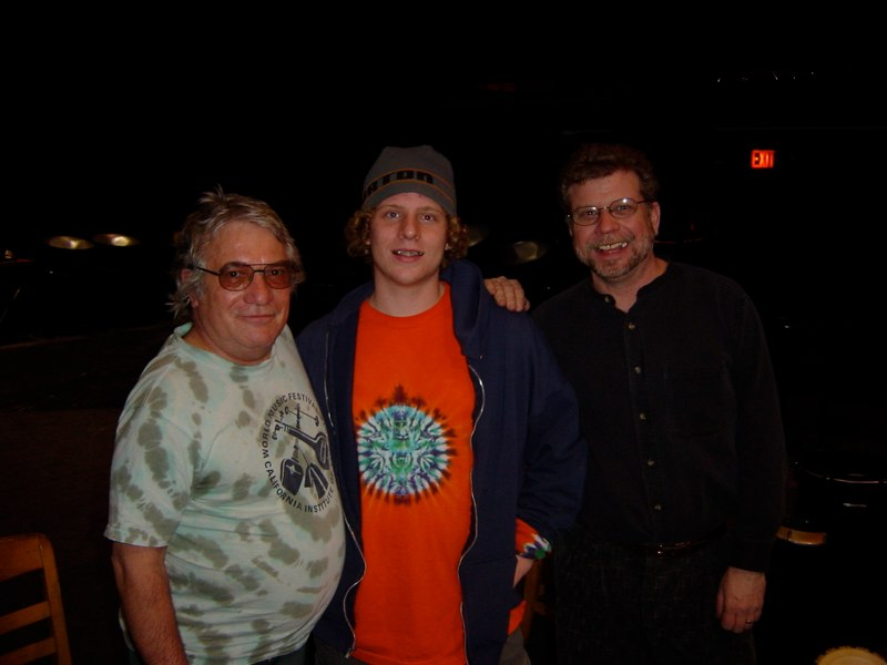 John Bergamo with Joe Caploe and son. University of Wisconsin, Platteville, 2003