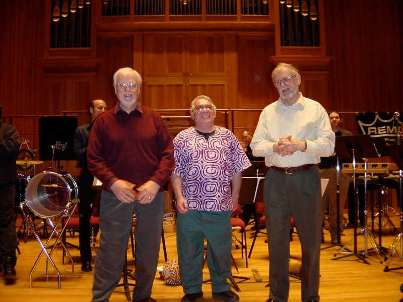 New York Day of Percussion honoring Jan Williams, John Bergamo, and Ray Des Roches. New York, 2003