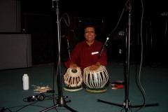 Pandit Swapan Chaudhuri recording Hand'Stan - Los Angeles 2005